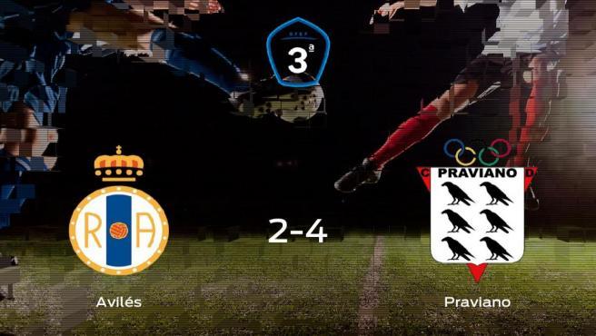 El Praviano se impone al Real Avilés por 2-4