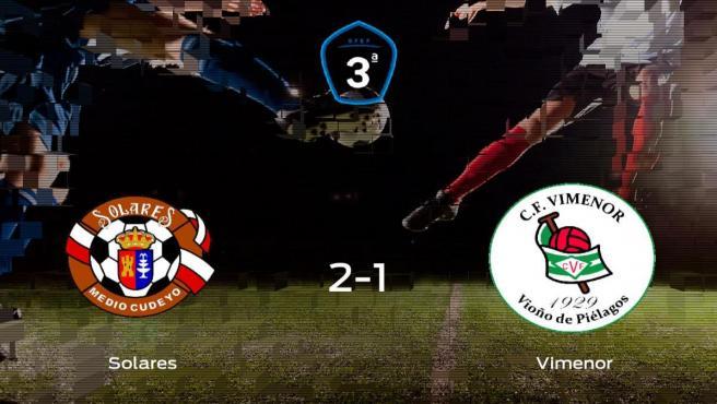 El Solares suma tres puntos a su casillero tras ganar al CF Vimenor (2-1)