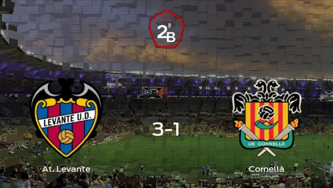 El At. Levante consigue los tres puntos frente al Cornellà (3-1)