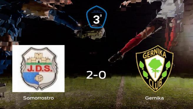 El Somorrostro gana 2-0 al SD Gernika y se lleva los tres puntos