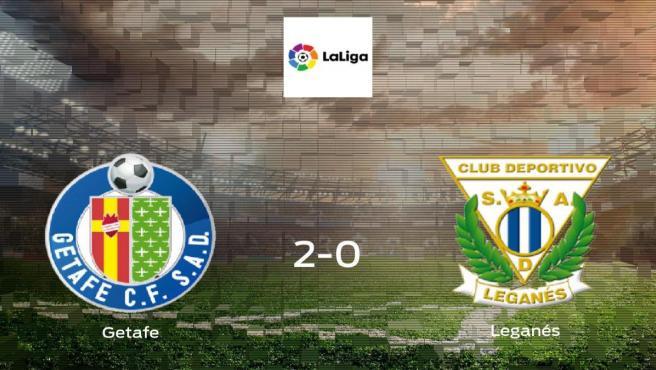 El Getafe consigue la victoria en casa frente al Leganés (2-0)