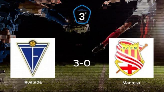 El Igualada consigue los tres puntos en casa tras pasar por encima al CE Manresa (3-0)
