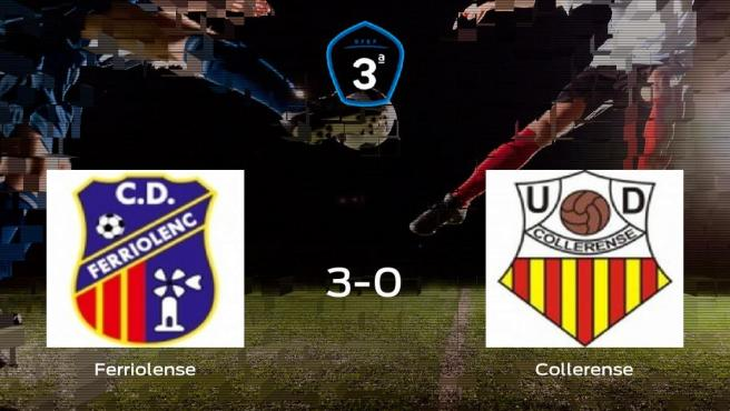 El Ferriolense se hace con los tres puntos tras golear al Collerense en casa (3-0)