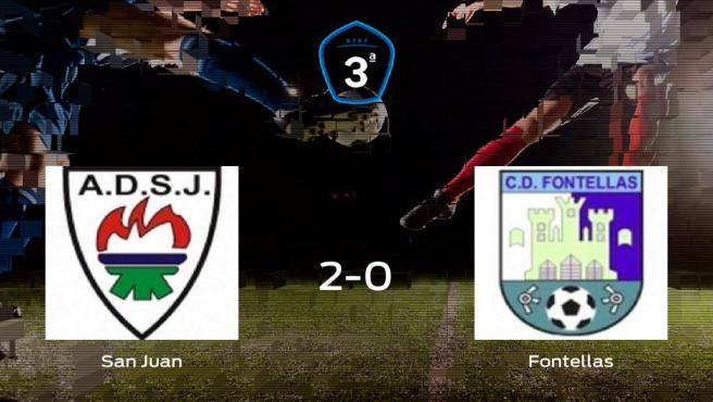 El San Juan DKE vence 2-0 al CD Fontellas y se lleva los tres puntos