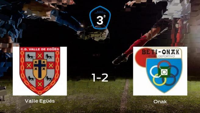 El Beti Onak deja sin sumar puntos al Valle Egüés (1-2)