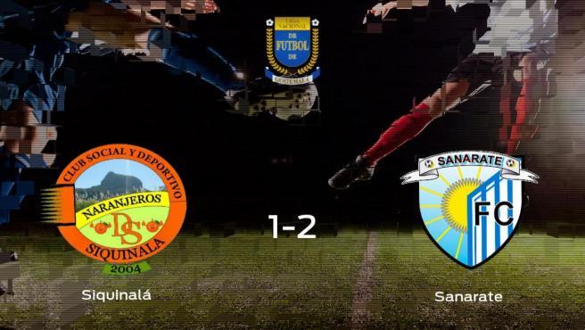 El Deportivo Sanarate gana en el Mateo Sicay Paz al Siquinalá (1-2)