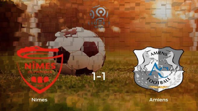 El Olimpique de Nimes y el Amiens SC se reparten los puntos tras su empate a uno