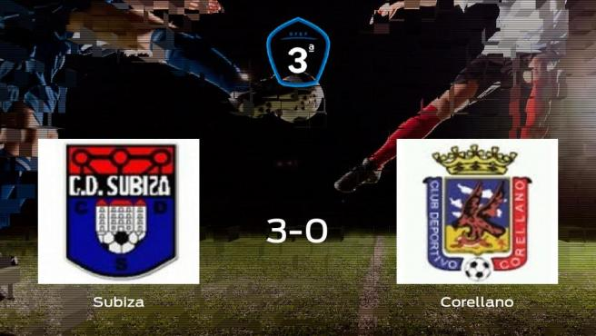 El Subiza suma tres puntos tras golear al Corellano en casa (3-0)