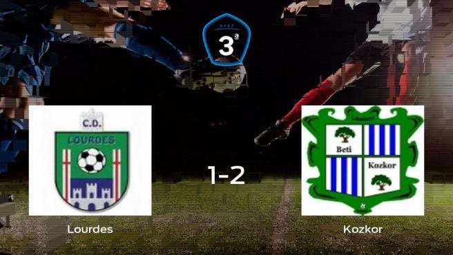 El Beti Kozkor consigue los tres puntos tras vencer 1-2 al Lourdes