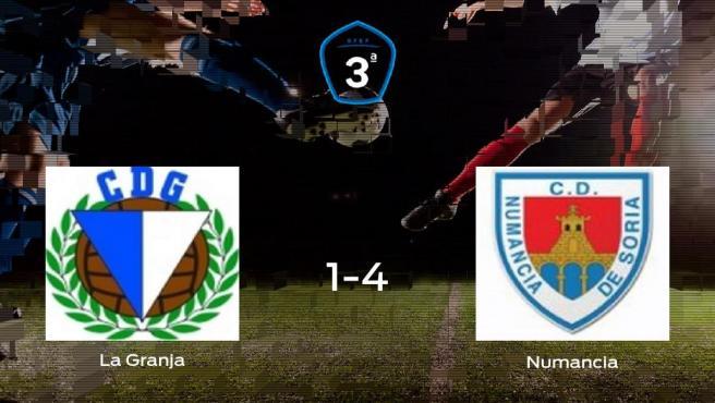 Sólido triunfo para el equipo soriano: La Granja 1-4 Numancia B