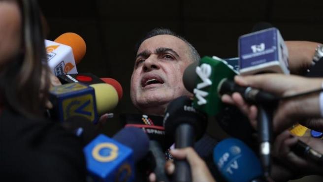 El fiscal general de Venezuela, Tarek Saab, en la sede del Tribunal Supremo de Justicia, en Caracas.