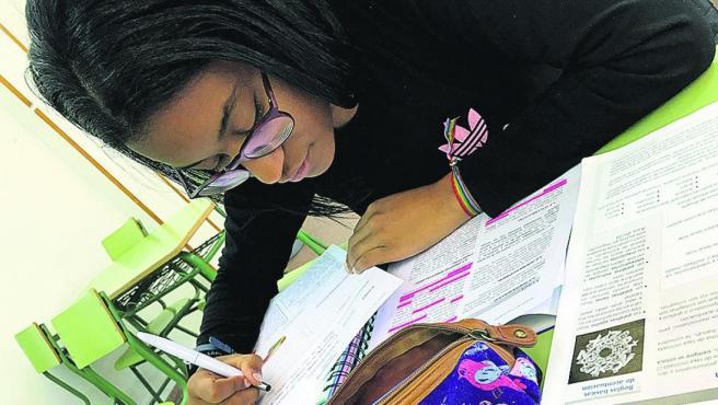 Talía, la joven madrileña de 21 años está terminando de cursar la Educación Secundaria.