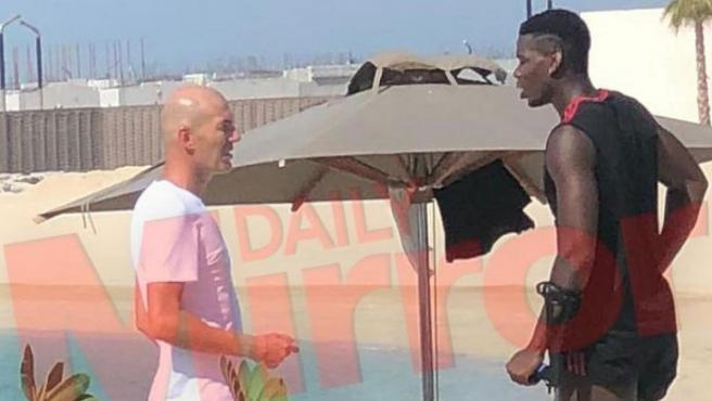 Zidane y Pobga se vieron en Dubái.