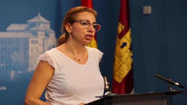 La diputada de Ciudadanos Ursula López en rueda de prensa