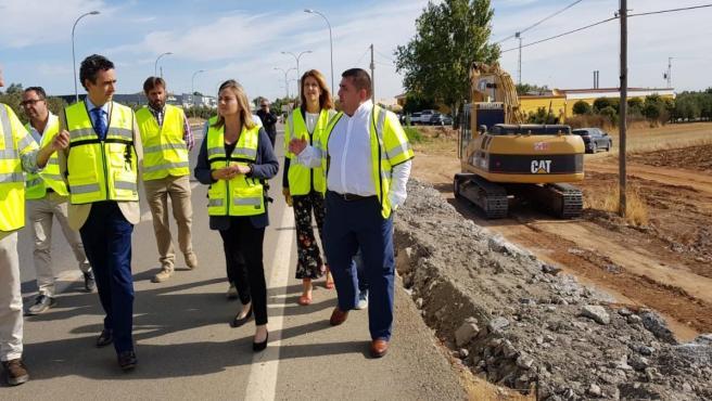 La consejera de Fomento, Marifrán Carazo, realiza una visita a las carreteras que la Junta está reparando tras el temporal de 2018