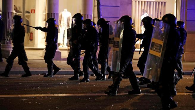 <p>Antidisturbios de los Mossos d'Esquadra</p>