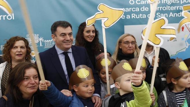 El conselleiro de Cultura e Turismo, Román Rodríguez, en un acto en Ferrol