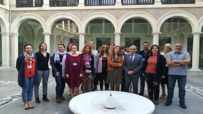 Reunión de la Junta con el colegio Profesor Tierno Galván