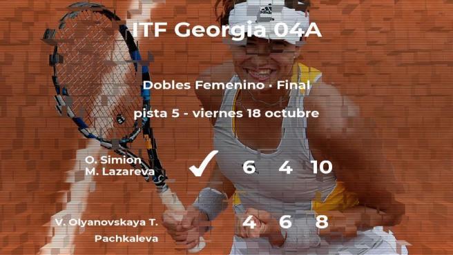 Triunfo para Simion y Lazareva en la final del torneo de Telavi