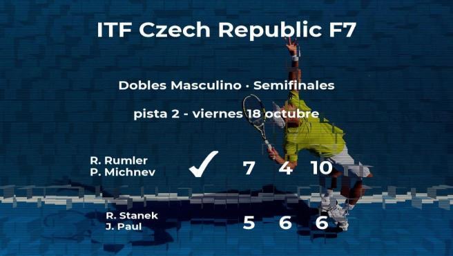 Rumler y Michnev estarán en la final del torneo de Olomouc