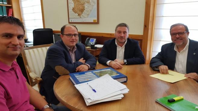 El consejero José Luis Soro ha mantenido un encuentro con responsables de la DPT