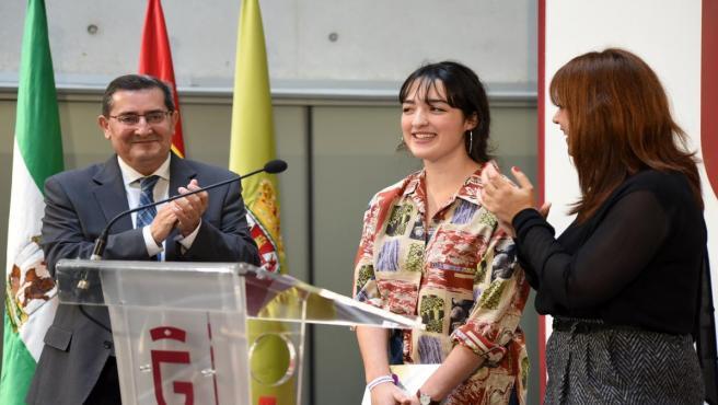 Entrega de premios del concurso de microrrelatos Mónica Carrión, en imagen de archivo