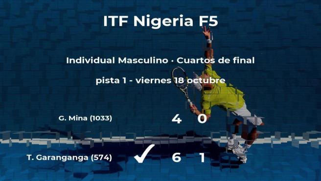 El tenista Takanyi Garanganga pasa a las semifinales del torneo de Lagos