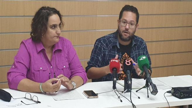 Angela Aguilera y José Ignacio García, parlamentarios de Adelante Andalucía por Cádiz