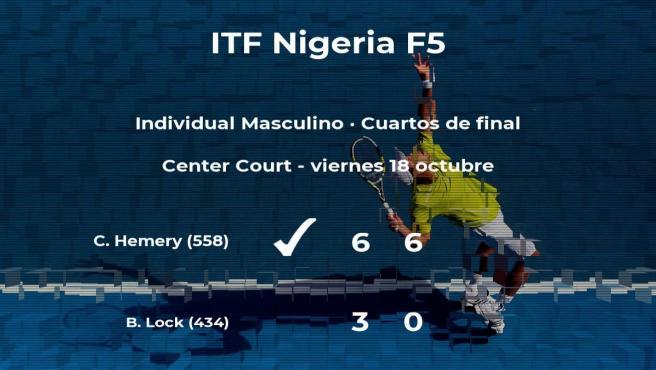 El tenista Calvin Hemery, clasificado para las semifinales del torneo de Lagos