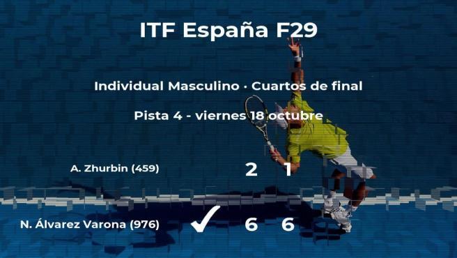 Nicolás Álvarez Varona pasa a la próxima fase del torneo de Madrid tras vencer en los cuartos de final