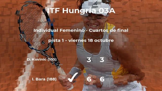 Irina Maria Bara se clasifica para las semifinales del torneo de Szekesfehervar