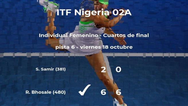 Rutuja Bhosale pasa a las semifinales del torneo de Lagos