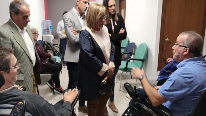 La número uno al Congreso por el PSOE de Huelva, María Luisa Faneca, en Ademo.