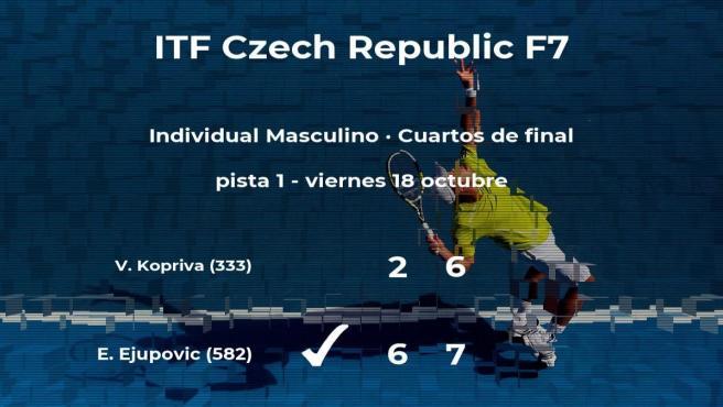 El tenista Elmar Ejupovic consigue el puesto de las semifinales a costa de Vit Kopriva