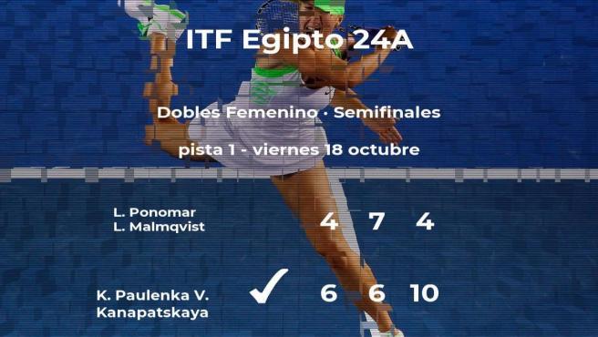 Paulenka y Kanapatskaya se imponen en las semifinales del torneo de Sharm El Sheikh