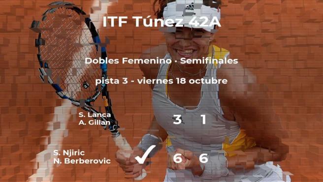 Las tenistas Lanca y Gillan se despiden del torneo de Tabarka