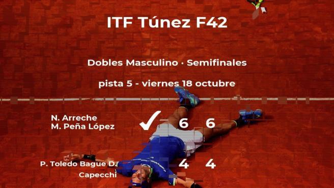 Arreche y Peña López se clasifican para la final del torneo de Tabarka