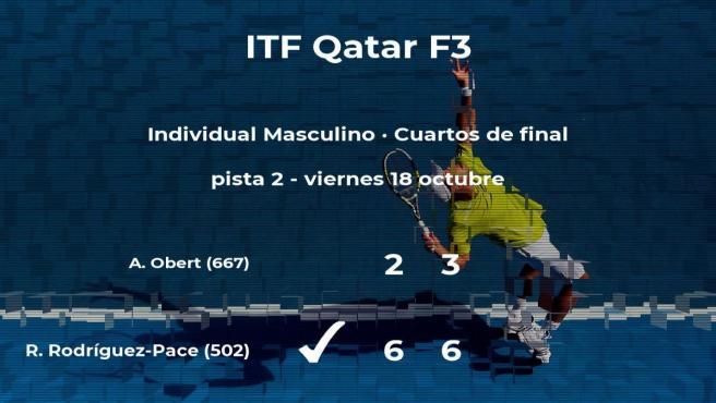 Ricardo Rodríguez-Pace consigue clasificarse para las semifinales del torneo de Doha