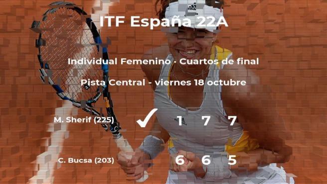 La tenista Cristina Bucsa se queda fuera de las semifinales del torneo de Sevilla
