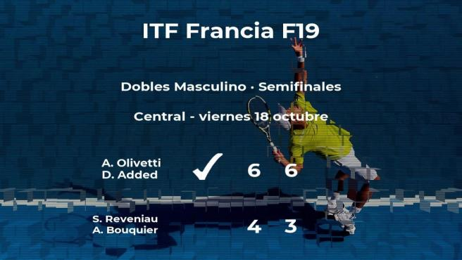 Los tenistas Olivetti y Added pasan a la siguiente fase del torneo de Rodez tras vencer en las semifinales