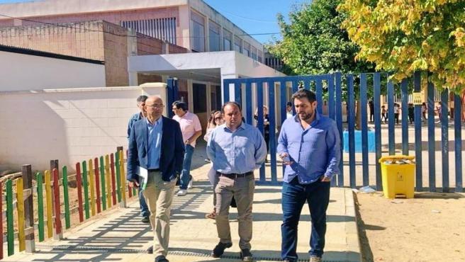 Visita de Pérez Blanes a La Algaba