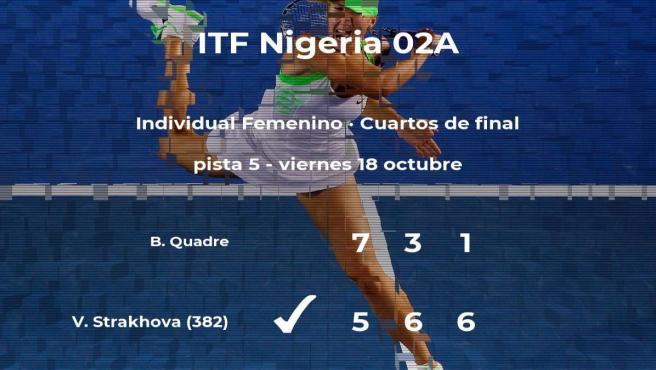 Valeriya Strakhova gana en los cuartos de final del torneo de Lagos