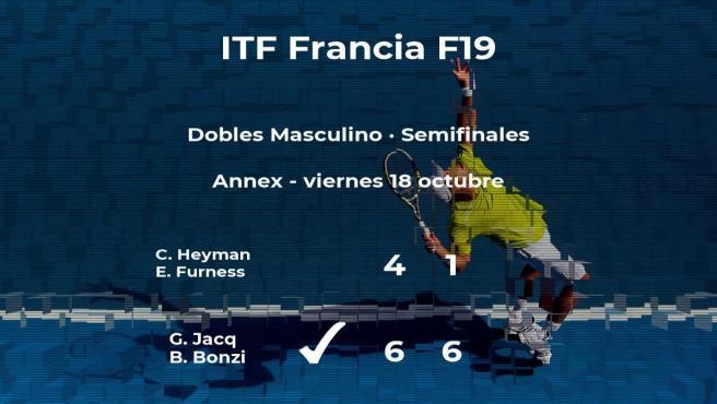 Los tenistas Heyman y Furness quedan eliminados en las semifinales del torneo de Rodez