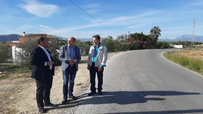 Los socialistas Luis Guerrero, Francisco Conejo y Luis Miguel Molina.