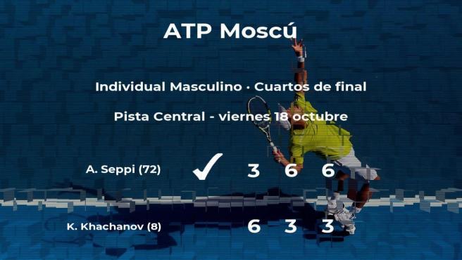 Andreas Seppi se clasifica para las semifinales del torneo ATP 250 de Moscú