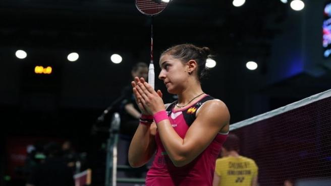 La jugadora española de bádminton Carolina Marín.