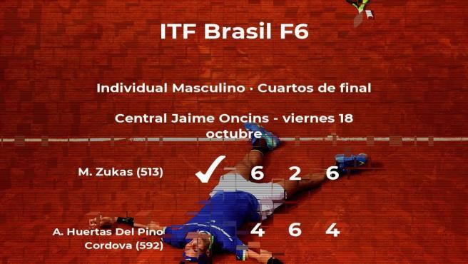 El tenista Matias Zukas se clasifica para las semifinales del torneo de Sao Paulo
