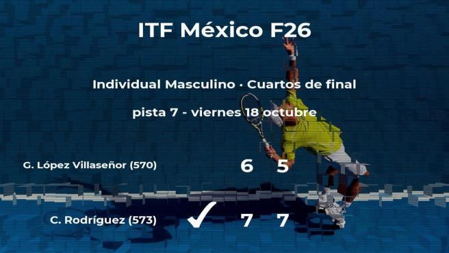 Cristian Rodríguez se clasifica para las semifinales del torneo de Cancún