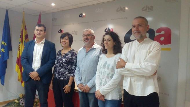 CHA presenta en Huesca sus candidaturas al Congreso y al Senado para el 10N.