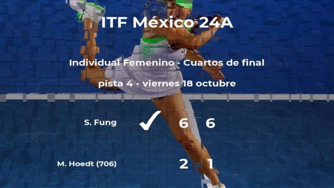 Stacey Fung estará en las semifinales del torneo ITF Mexico 24A